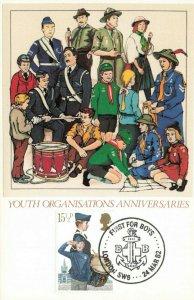 Havering Silk Postcard, FDI Youth Organisations Anniversaries First for Boys KI9