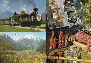 Hand Glider in Austria Cow With Flower Hat Train 4x Mad Postcard s