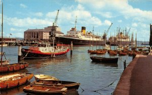 Vintage Dorset Postcard, Channel Island Boats in Harbour, Weymouth 63Z