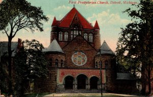 Michigan Detroit First Presbyterian Church 1909