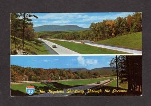 PA Interstate 80 Hwy Highway KEYSTONE SHORTWAY PENN Postcard Pennsylvania