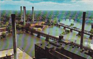 Illinois Rockford Rock River And Part Of Industrial Area