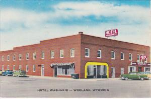 WORLAND, Wyoming, 1940-1960's; Hotel Washakie, Classic Cars