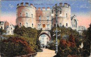 Koln am Rhein Hahnentor Gate Postcard