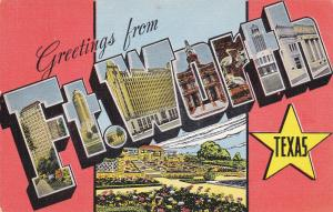 Large Letter Greetings ,  FT.  WORTH  , Texas , 30-40s