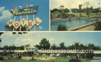 Fountain Motel, Paducah, Kentucky, KY USA Hotel Postcard Motel Post Card Old ...