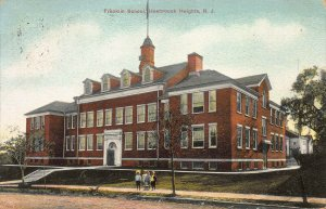 Franklin School, Hasbrouck Heights, New Jersey, Early Postcard, Used in 1908