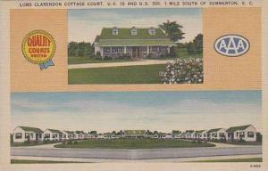 South Carolina Summerton Lord Clarendon Cottage Court