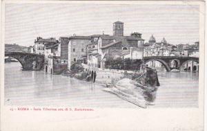ROMA, Lazio, Italy, 1900-1910's; Isola Tiberina Ora Di S. Bartolomeo