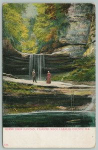 LaSalle County Illinois~Horse Shoe Canyon Starved Rock~c1910 Postcard