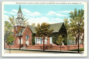 Williamsburg Virginia~Bruton Parish Church~Oldest in Constant Use in USA~1920s