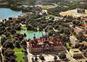 Hannover Town Hall Air view, Sportzentrum Neues Rathaus