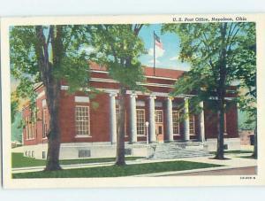 Linen POST OFFICE Napoleon - Near Defiance & Maumee & Toledo Ohio OH d8722