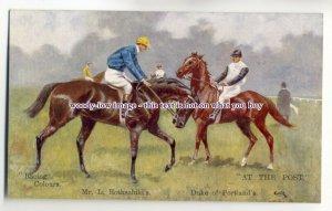 an0563 - Racing Colours Mr. L.Rothschild's  Artist - GDR - W & K Postcard