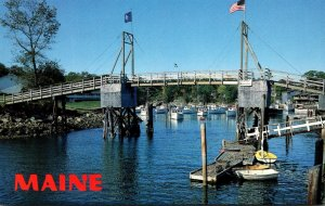 Maine Ogunquit Perkins Cove Drawbridge