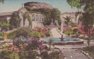 California San Juan Capistrano Front Garden Original Bells Restored Fountain ...