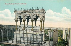 Postcard UK England Bamburgh, Northumberland Grace Darling's tomb
