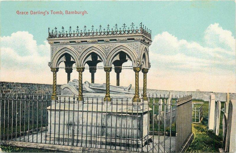 Postcard UK England Bamburgh, Northumberland Grace Darling's tomb