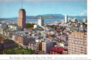 California San Francisco The Golden Gate From The Top Of The Mark 1958