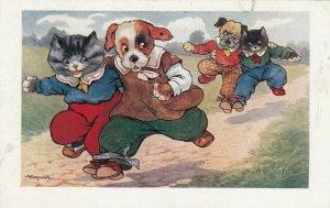 Dressed Dog & Cat Teams Three-legged Races , 00-10s