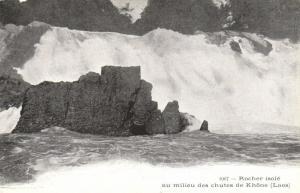 CPA Indochina - Rocher isolé au milieu des chutes de Khone Laos (146350)