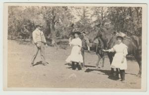 MANTON CA HORSEBACK RIDING PRETTY WOMEN 1910 nr Red Bluff Redding Postcard