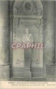 Postcard Old Paris Monument Gustave Larroumet Director of Fine Arts did Gourd...