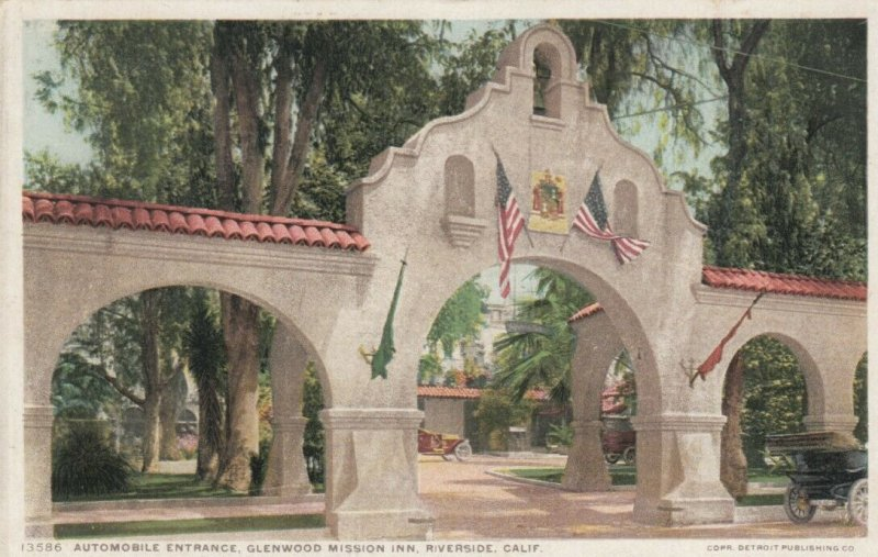 RIVERSIDE, California, 1900-10s; Glenwood Mission Inn, Automobile Entrance