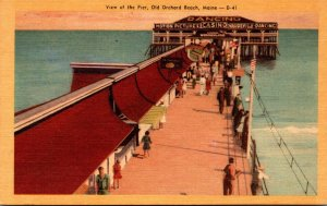 Maine Old Orchard Beach View Of The Pier Dexter Press