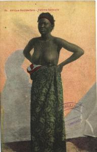 CPA Senegal Ethnic Nude Fortier - 94. Femme Saracole (71102)