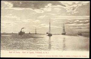 trinidad b.w.i., PORT OF SPAIN, Gulf of Paria (1910s)