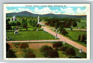 Gettysburg PA-Pennsylvania, Hancock Avenue, Vintage Postcard