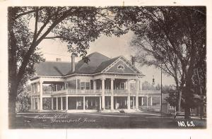 Davenport IA Bicycles Parked A'Gin Outing Club Porch~Horseless? Wagon RPPC c1922
