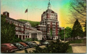 Hot Springs, Virginia Postcard Front of THE HOMESTEAD HOTEL Hand-Colored 1930s