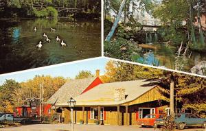 West Rindge New Hampshire Old Forge Restaurant Multiview Vintage Postcard K69259