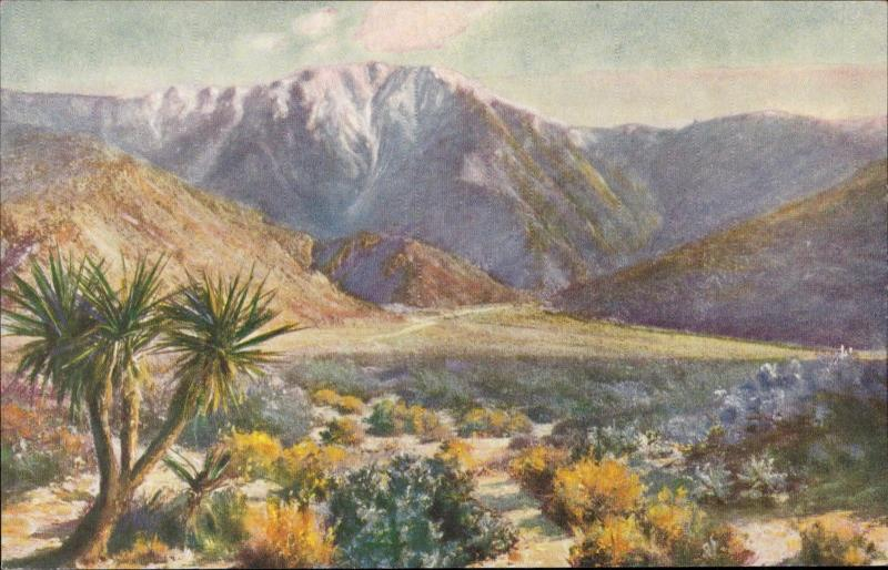Mt. Jacinto from Desert Side painting by F. B. Standish