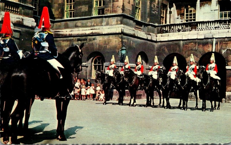 England London Whitehall Horse Guards Changing Of The Queen's Life Guard