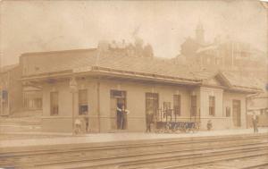 E61/ Cameron West Virginia RPPC Postcard c1910 Railroad Depot