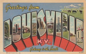 Large Letter Greetings LOUISVILLE, Kentucky, 1930-40s v2