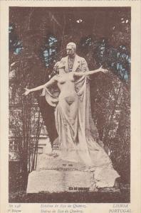 Portugal Lisboa Statue de Eca de Queiroz