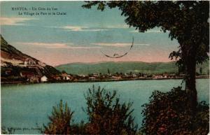 CPA NANTUA Un coin du Lac Le Village de Port et le Chalet (683972)