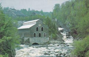Scenic View, Old Pulp Mill on the River, Chicoutimi, Quebec, Canada, PU-1985