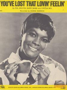 You've Lost That Lovin Feelin' Dionne Warwick 1960s Sheet Music