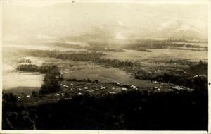papua new guinea, WAU, Morobe, Panorama from the Power Line (1920s) RPPC