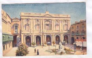 Artist Signed, MALTA Paizza Ragina and Public Library, 00-10s