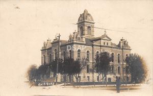 C82/ Fairbury Nebraska Ne Real Photo RPPC Postcard County Court House 1909