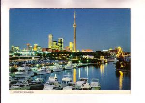 Skyline at Night, Officially Licensed CN Tower, Toronto, Ontario