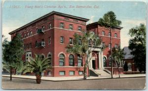 San Bernardino, California Postcard YMCA Building, Boarding House View 1914
