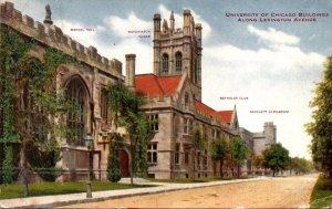 Illinois Chicago University Of Chicago Buildings Along Lexington Avenue