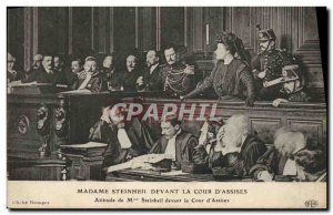 Old Postcard Lady Steingell before the Court & # 39assises Attitude Ms. Stein...